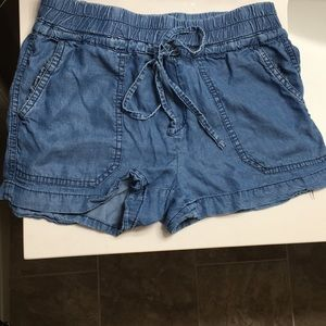 Flowing blue shorts